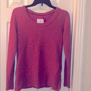Pink & White Speckled Sweater